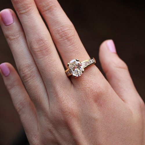 OVAL AND PRINCESS CUT DIAMOND RING